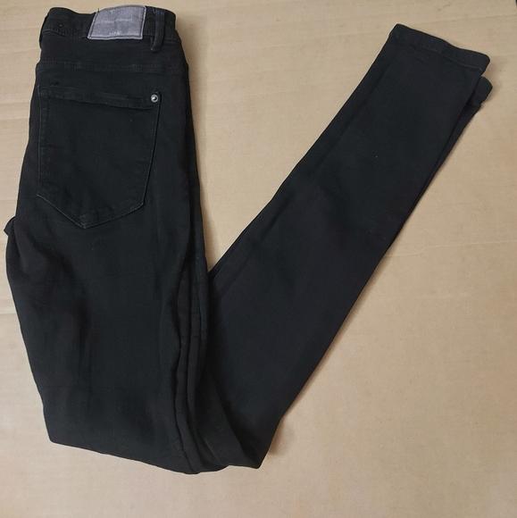 Zara Trafaluc Denim Makers Black Skinny Jean Size 4